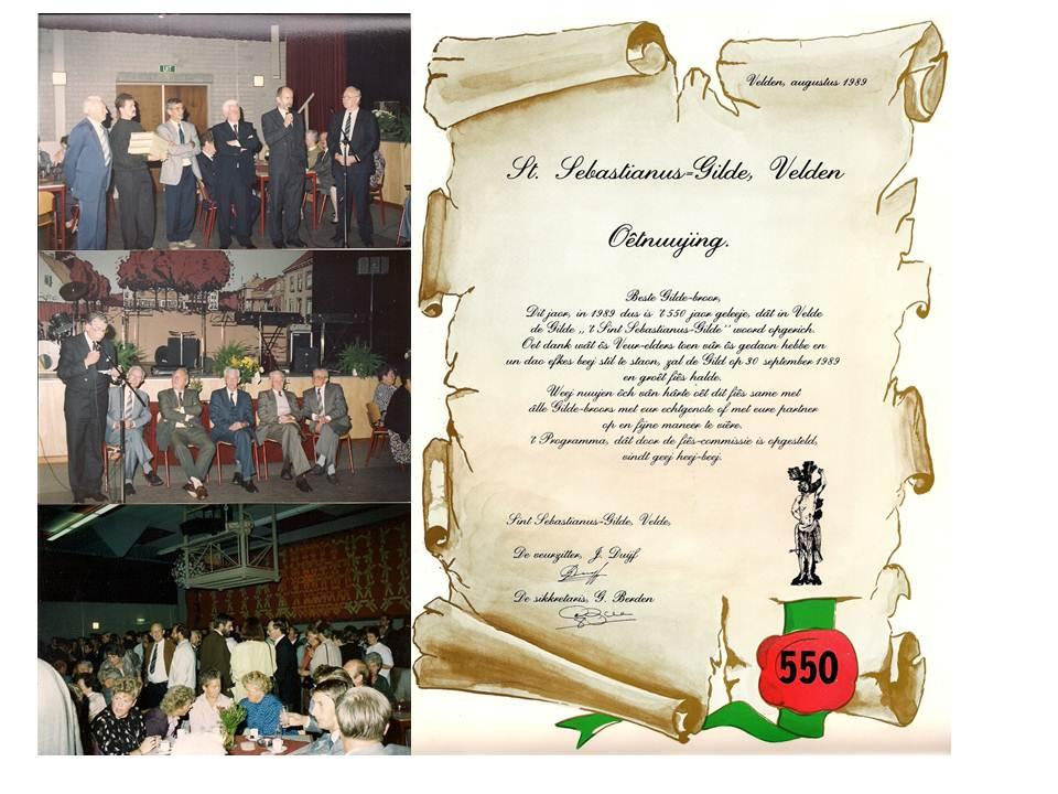 Foto en uitnodiging historie